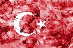 Turkey smoke flag isolated on a white background. royalty free stock photos