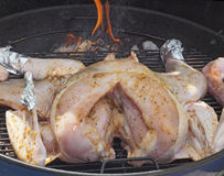 Turkey on a smoker Stock Photography