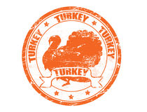 Turkey stamp Royalty Free Stock Photo