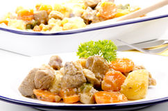 Turkey stew with potatoes Royalty Free Stock Photos