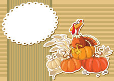 Turkey sticker background Stock Image