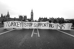 Turkey stop supporting ISIS Royalty Free Stock Photos