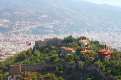 Turkey stronghold. And city background Royalty Free Stock Photos