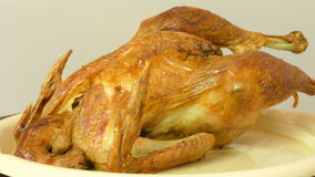 The turkey stuffed with apples stock video