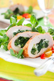Turkey stuffed with spinach Royalty Free Stock Photography