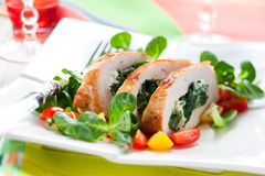 Turkey stuffed with spinach Stock Image
