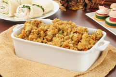 Turkey stuffing Royalty Free Stock Image