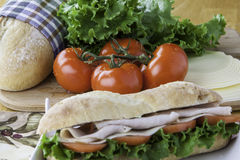Turkey sub sandwich Royalty Free Stock Images