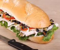 Turkey Sub Sandwich Stock Images