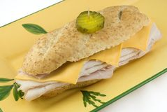 Turkey Submarine Sandwich Royalty Free Stock Image