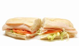 Turkey submarine sandwich Royalty Free Stock Photo