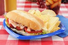 Turkey submarine sandwich Stock Image