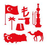 Turkey symbol set. Turkish national icon. State traditional sign Stock Photos