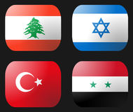 Turkey Syria Lebanon Israel Flag Royalty Free Stock Image