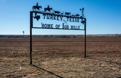 Turkey, Texas welcome sign royalty free stock photography