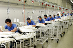 Turkey Textile sector Stock Image