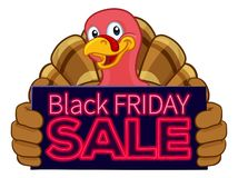 Turkey Black Friday Sale Cartoon royalty free illustration