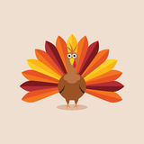 vector turkey for thanksgiving day Royalty Free Stock Image