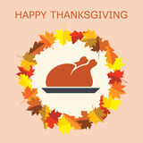 Turkey for thanksgiving day, vector  Stock Images