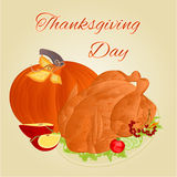 Turkey Thanksgiving day vector Stock Image