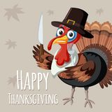 Turkey on thanksgiving template stock photography