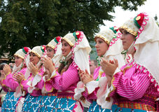 Turkey traditional folk group Stock Photo