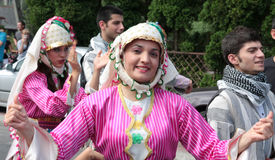 Turkey traditional folk group Royalty Free Stock Photos