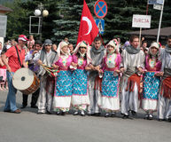 Turkey traditional folk group Stock Photos