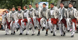 Turkey traditional folk group stock image