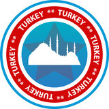 Turkey travel button Royalty Free Stock Images