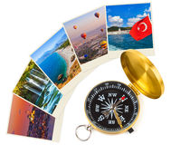 Turkey travel photography on clothespins Royalty Free Stock Images