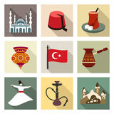 Turkey travel symbols icon set Royalty Free Stock Photo