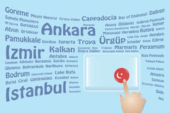 Turkey Travel Touch Screen Royalty Free Stock Image