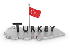 Turkey Tribute. 3D rendered scene with flag and logo Royalty Free Stock Image