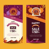 Turkey Turkey On Plate X Banner Collection royalty free illustration
