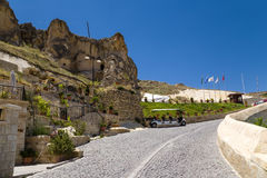 Turkey, Urgup. Modern tourist complex built on the ruins of old cave town Royalty Free Stock Images