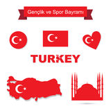 Turkey vector set Royalty Free Stock Photos