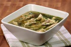 Turkey and veggies soup Stock Photo