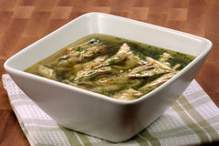 Turkey and veggies soup Royalty Free Stock Photography