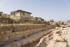 Turkey. View of the archaeological site of Hierapolis Necropolis Royalty Free Stock Photos