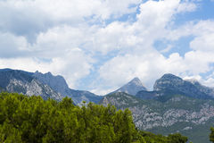 Turkey, view  a peaks of the Taurus Mountains Royalty Free Stock Photos