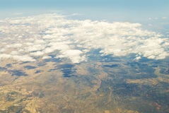 Turkey view from the plane Royalty Free Stock Image
