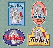 Turkey vintage labels Royalty Free Stock Images