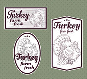 Turkey vintage labels Royalty Free Stock Image