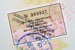 Turkey visa Royalty Free Stock Photo
