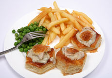 Turkey vol-au-vent meal Royalty Free Stock Photos