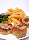 Turkey vol-au-vents macro Royalty Free Stock Photos