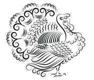 Turkey on white Stock Photo