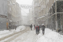 Turkey. A winter day in istiklal street-Istanbul/Turkey royalty free stock photo