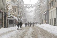 Turkey. A winter day in istiklal street-Istanbul/Turkey stock photos